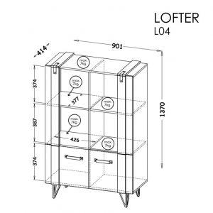 Stelāža Lofter 04