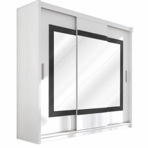 Skapis ar bīdāmām durvīm un spoguli Preston 250