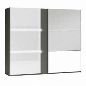 Skapis ar bīdāmām durvīm un spoguli Tunis 250