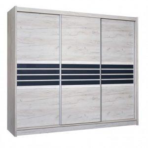 Skapis ar bīdāmām durvīm un spoguli Turyn 250