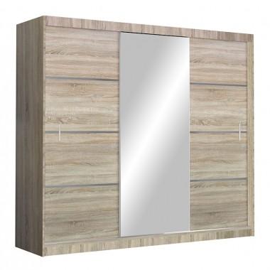 Skapis ar bīdāmām durvīm un spoguli Vista 250