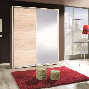 Skapis ar bīdāmām durvīm un spoguli FiFi