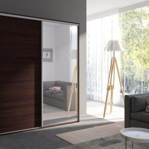 Skapis ar bīdāmām durvīm un spoguli Grande 204