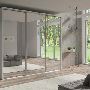 Skapis ar bīdāmām durvīm un spoguli Grande 277