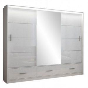 Skapis ar bīdāmām durvīm un spoguli Marsylia 250