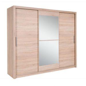 Skapis ar bīdāmām durvīm un spoguli Mistral 250