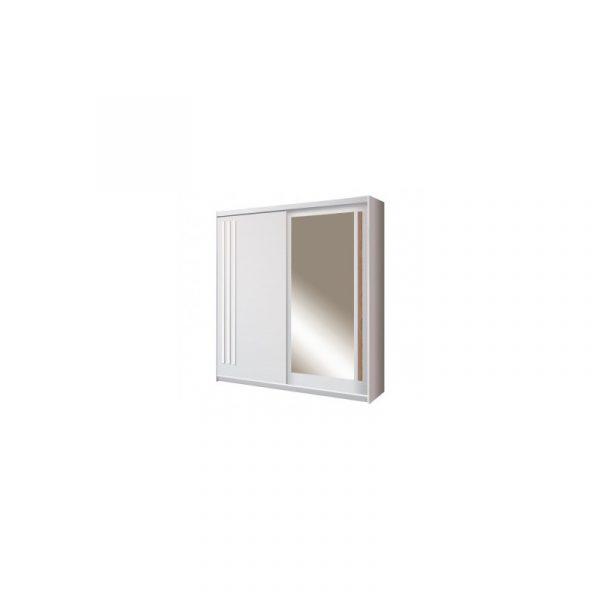 Skapis ar bīdāmām durvīm un spoguli Effect EF-1-200
