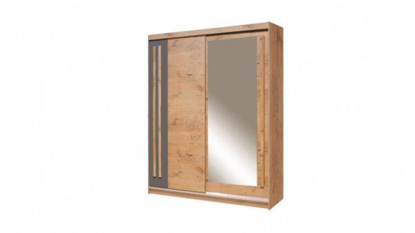 Skapis ar bīdāmām durvīm un spoguli Effect EF-4-175