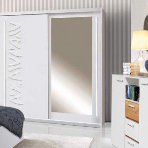 Skapis ar bīdāmām durvīm un spoguli Tokyo 150