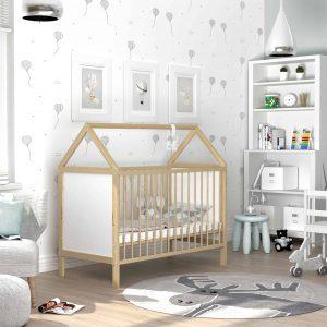 Bērnu gultiņa ANIA (priede)