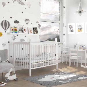 Bērnu gultiņa ADAS (balta)