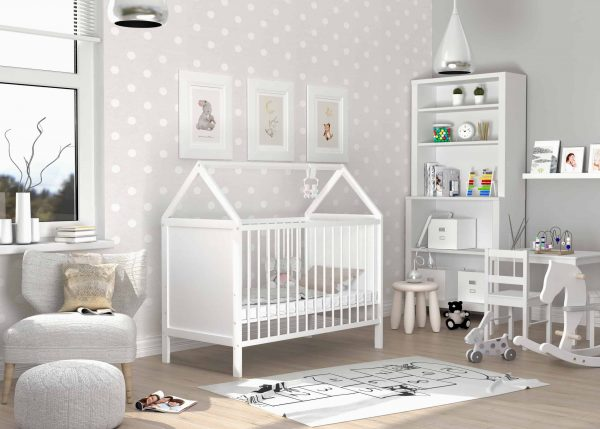 Bērnu gultiņa ANIA (balta)