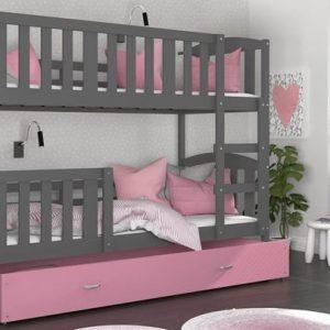 Divstāvu gulta KUBUS MDF
