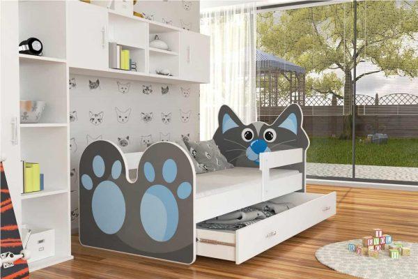 Bērnu gulta ar grafiku ZWERZAKI