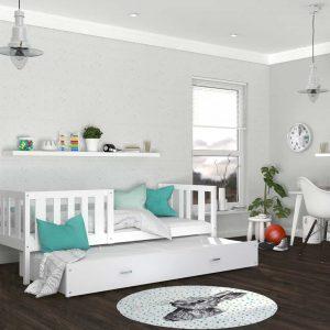 Divvietīga bērnu gulta NEMO P2 MDF