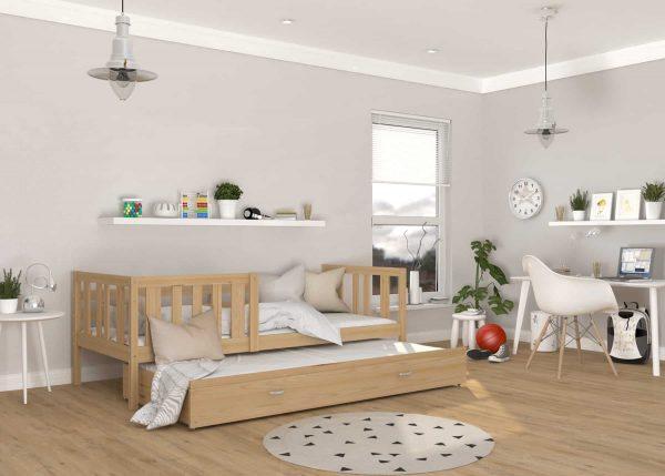 Divvietīga bērnu gulta NEMO P2